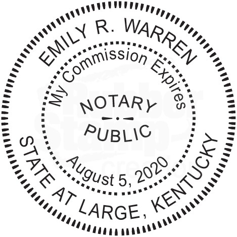 Notary kentucky CUSTOM Round Self-Inking Official NOTARY SEAL RUBBER STAMP