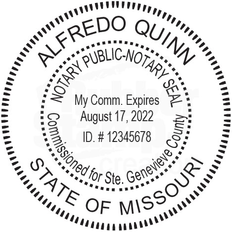 Notary Stamp For Missouri State Round1 Notary Stamps Amp Supplies