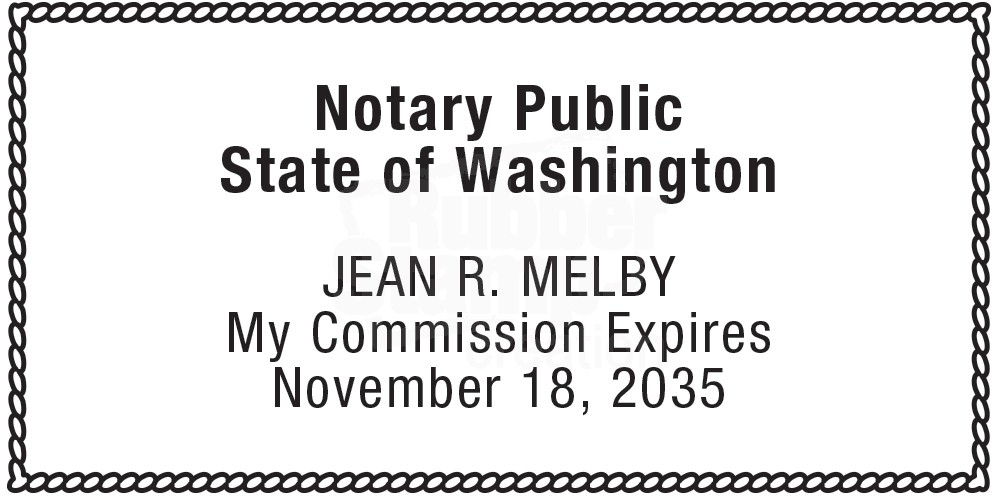 Notary Stamp For Washington State