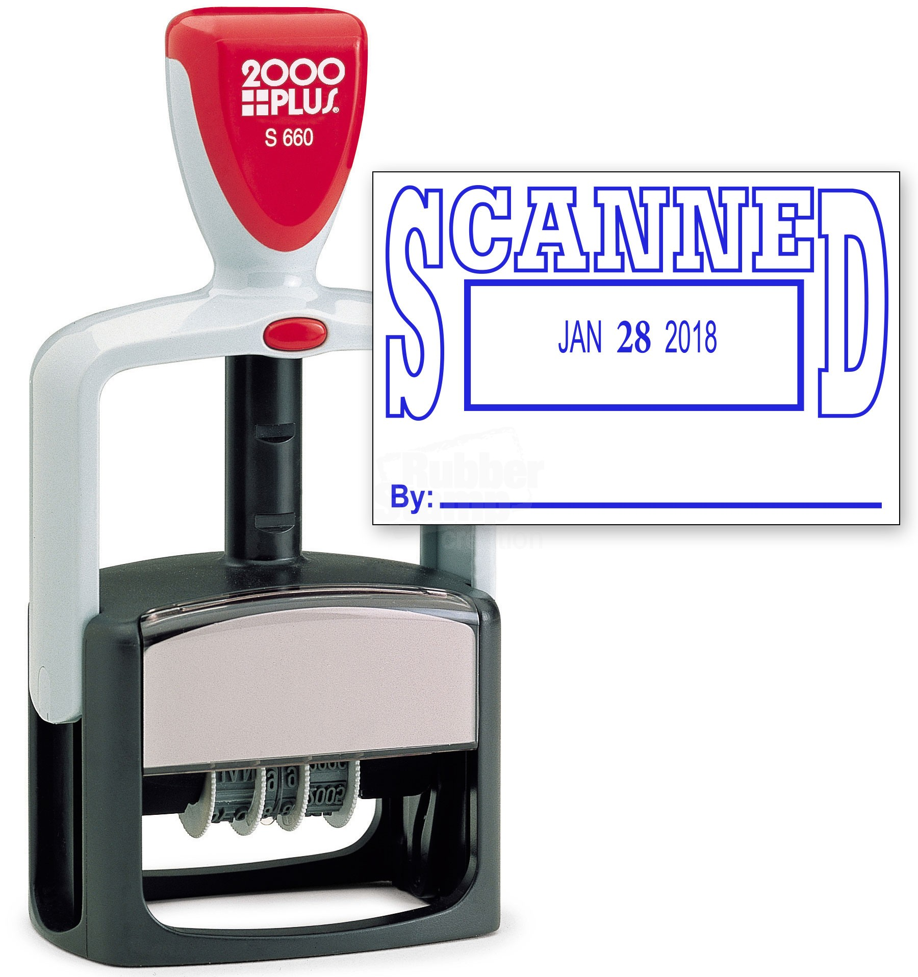 2000 Plus Heavy Duty Style 2 Color Date Stamp With Scanned