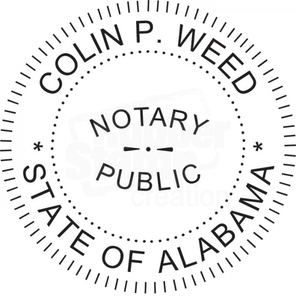 Notary Seal Round Embosser for Alabama State - Includes ...