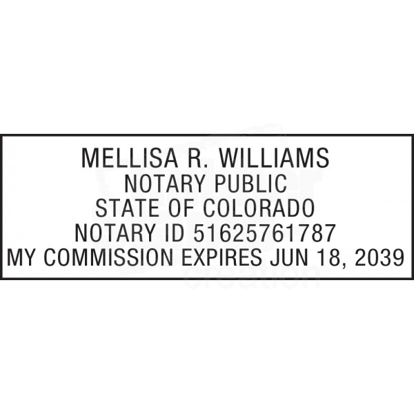 Notary Stamp For Colorado State Notary Stamps Amp Supplies