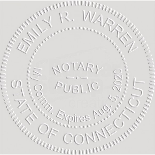 Notary Seal Round Embosser for Connecticut State ...