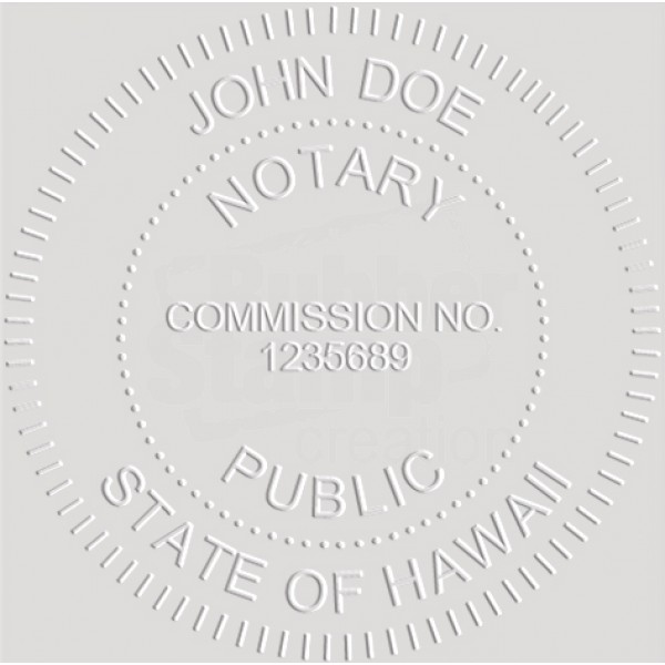Notary Seal Round Embosser for Hawaii State - Includes ...