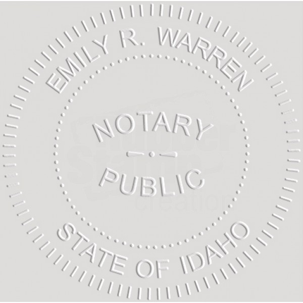 Notary Seal Round Embosser for Idaho State - Includes Gold ...