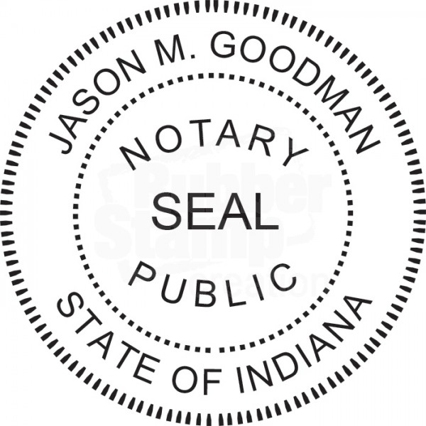 Notary Seal Round Embosser for Indiana State - Includes ...