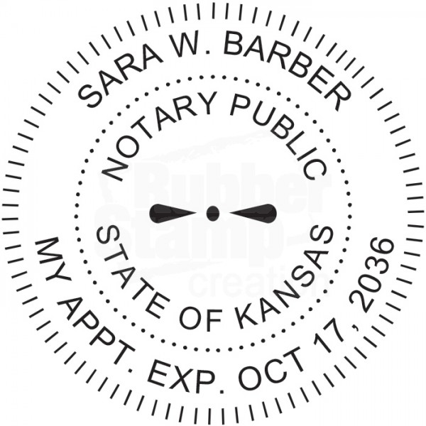 Notary Seal Round Embosser for Kansas State - Includes ...