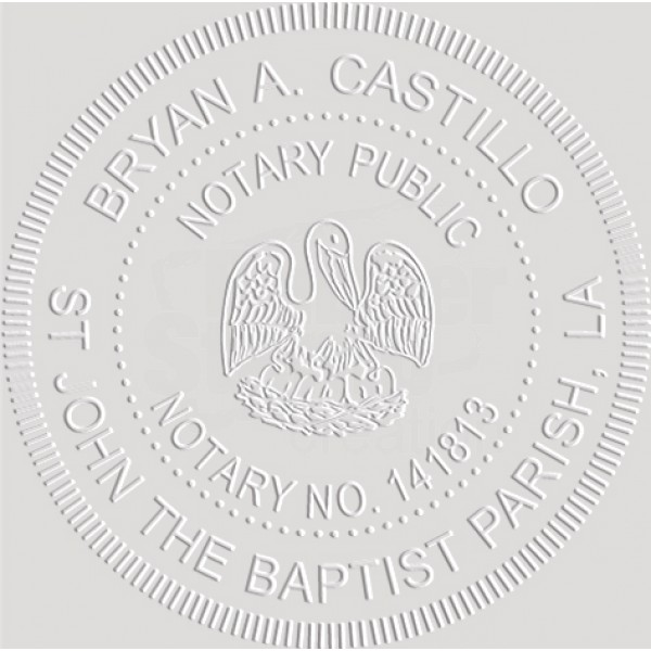 Notary Seal Round Embosser for Louisiana State - Includes ...
