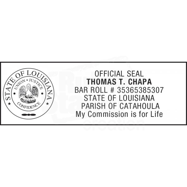 Attorney Stamp For Louisiana State 1 Notary Stamps