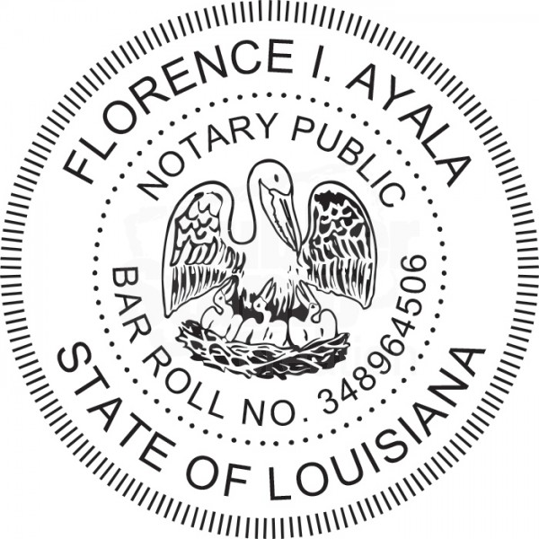 attorney stamp for louisiana state - round
