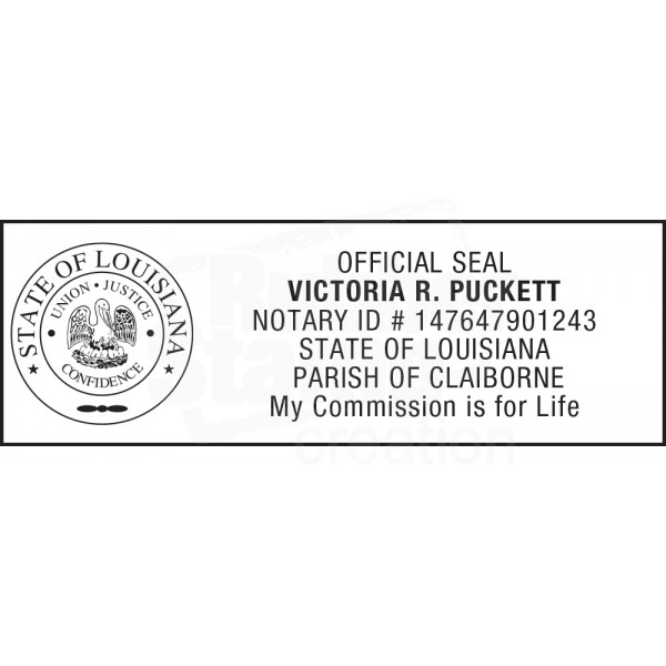 Notary Stamp For Louisiana State 1