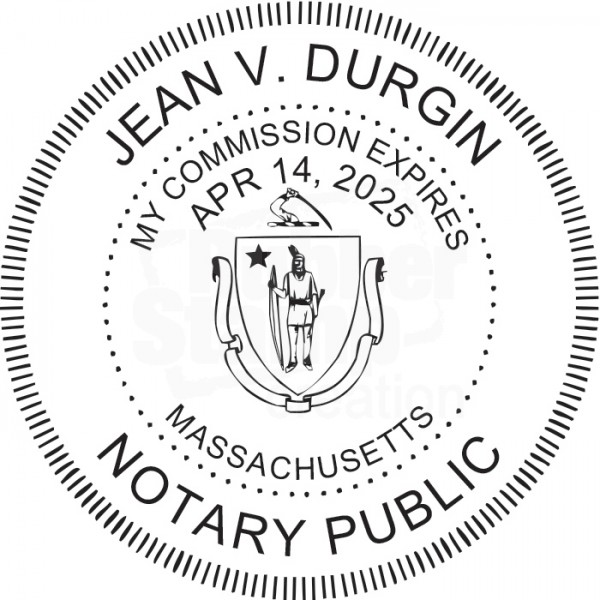 Notary Stamp For Massachusetts State