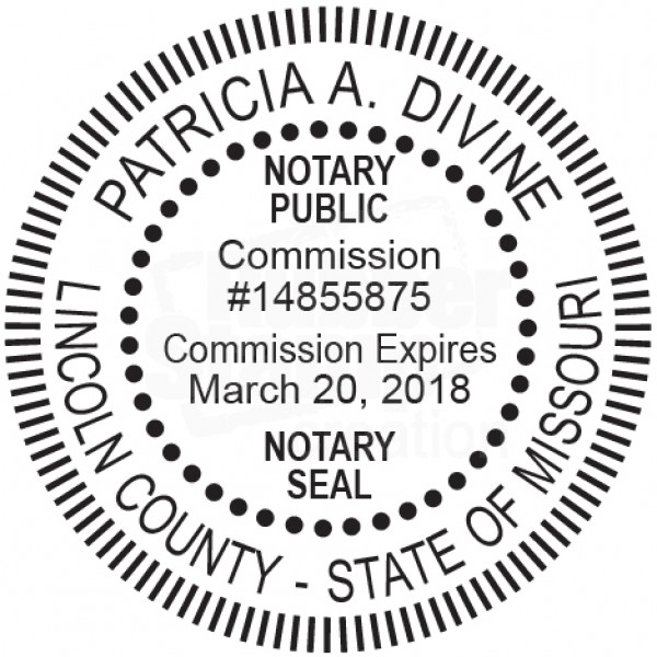 Notary Seal Round Embosser for Missouri State - Includes ...