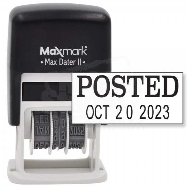 Maxmark Self Inking Rubber Date Office Stamp With Posted