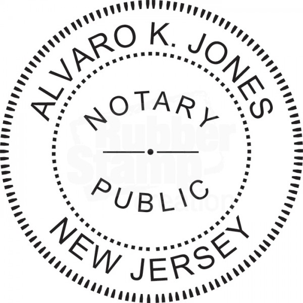 Notary Stamp For New Jersey State