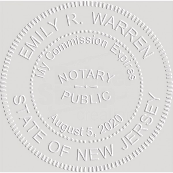 Notary Seal Round Embosser For New Jersey State
