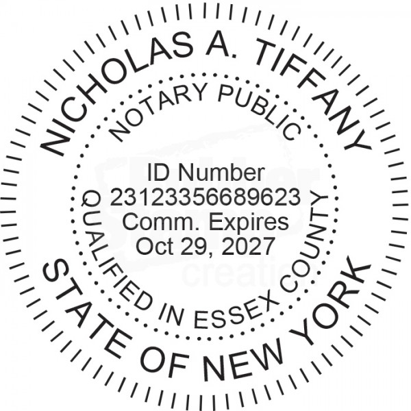 Notary Stamp For New York State Round Notary Stamps