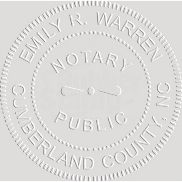 Notary Seal Embosser for North Carolina State - Includes ...