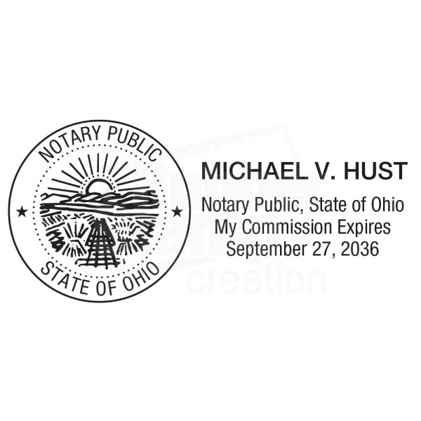 Notary Stamp For Ohio State Rectangular Notary Stamps