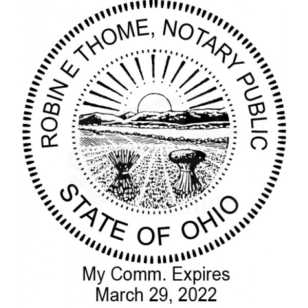 Notary Stamp For Ohio State