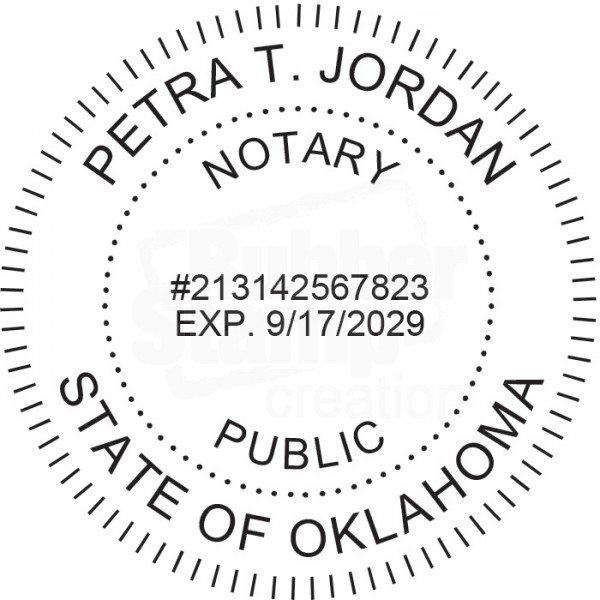 Notary Seal Round Embosser for Oklahoma State - Includes ...