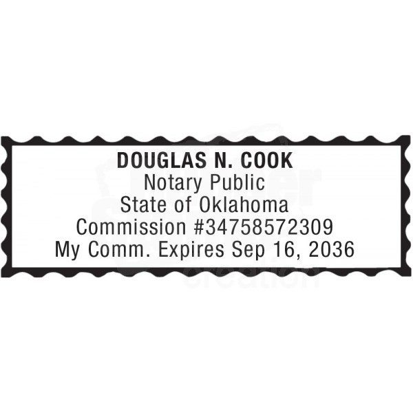Notary Stamp For Oklahoma State Notary Stamps Supplies