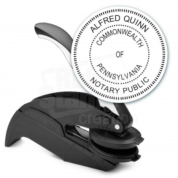 notary seal round embosser for pennsylvania state