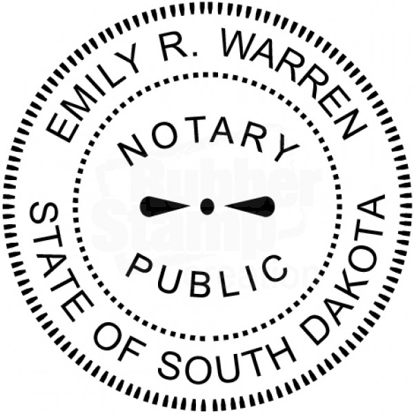 Notary Seal Round Embosser for South Dakota State ...