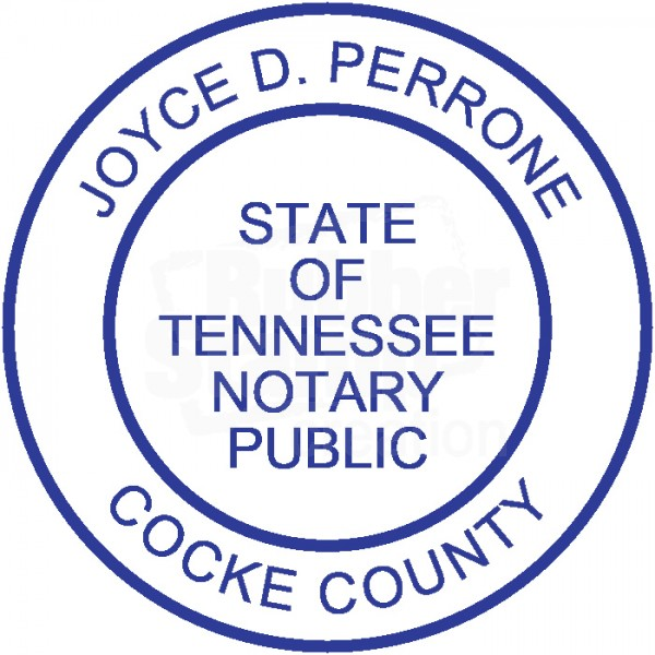 Notary Stamp For Tennessee State