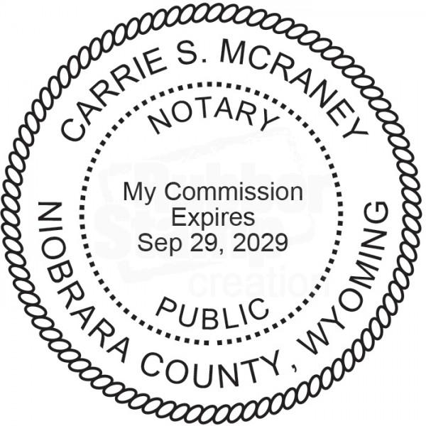Notary Seal Round Embosser for Wyoming State - Includes ...