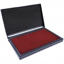MaxMark Large Crimson Red Stamp Pad - 4-1/4 by 7-1/4 - Premium Quality Felt Pad