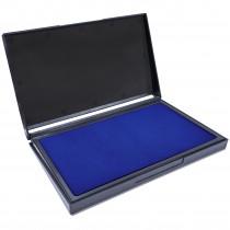 MaxMark Large Blue Stamp Pad - 4-1/4 by 7-1/4 - Premium Quality Felt Pad