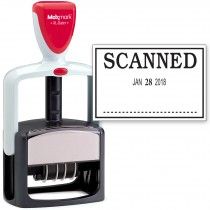 2000 PLUS Heavy Duty Style 2-Color Date Stamp with SCANNED self inking stamp - Black Ink