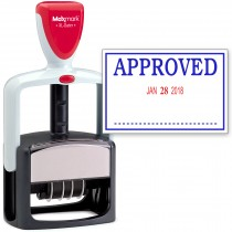 2000 PLUS Heavy Duty Style 2-Color Date Stamp with APPROVED self inking stamp - Blue/Red Ink