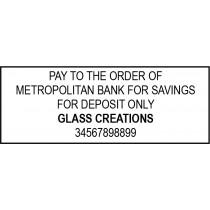 Bank Deposit Stamp Self-Inking 5 Lines