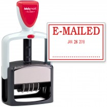 2000 PLUS Heavy Duty Style 2-Color Date Stamp with E-MAILED self inking stamp - Red Ink