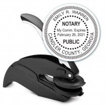 Notary Seal Round Embosser for Georgia State - Includes Gold Burst Seal Labels (42 count)