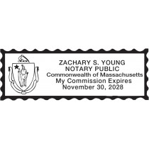 Notary Stamp For Massachusetts State 1