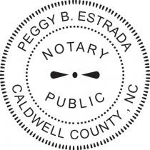 Notary Stamp for North Carolina State - Round1