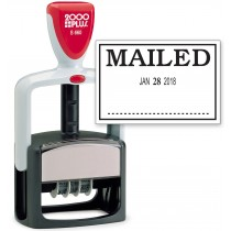 2000 PLUS Heavy Duty Style 2-Color Date Stamp with MAILED self inking stamp - BLACK Ink