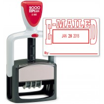 2000 PLUS Heavy Duty Style 2-Color Date Stamp with EMAILED self inking stamp - Red Ink