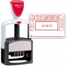 2000 PLUS Heavy Duty Style 2-Color Date Stamp with SCANNED self inking stamp - Red Ink