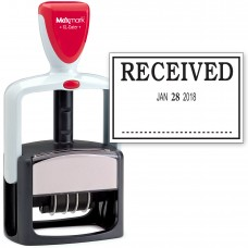 2000 PLUS Heavy Duty Style 2-Color Date Stamp with RECEIVED self inking stamp - Black Ink