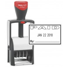 "Heavy Duty Date Stamp with ""PAID"" Self Inking Stamp - BLACK Ink"