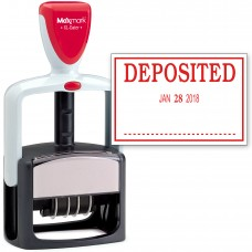 2000 PLUS Heavy Duty Style 2-Color Date Stamp with DEPOSITED self inking stamp - Red Ink