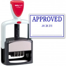 2000 PLUS Heavy Duty Style 2-Color Date Stamp with APPROVED self inking stamp - Blue Ink