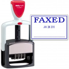 2000 PLUS Heavy Duty Style 2-Color Date Stamp with FAXED self inking stamp - Blue Ink