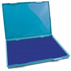 "MaxMark Extra Large Blue Ink Stamp Pad - 8.25"" x 11.5"" - Industrial Felt Pad"