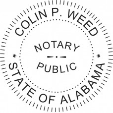 Notary Stamp for Alabama State - Round