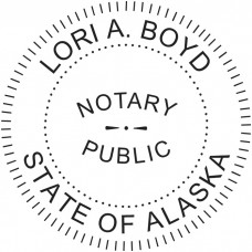 Notary Stamp for Alaska State - Round